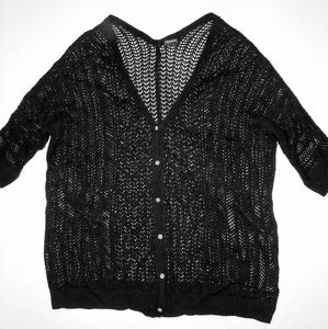 Torrid Black Cardigan Sweater Plus 4 4X 26